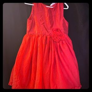 Girls size 6 Red Party Dress
